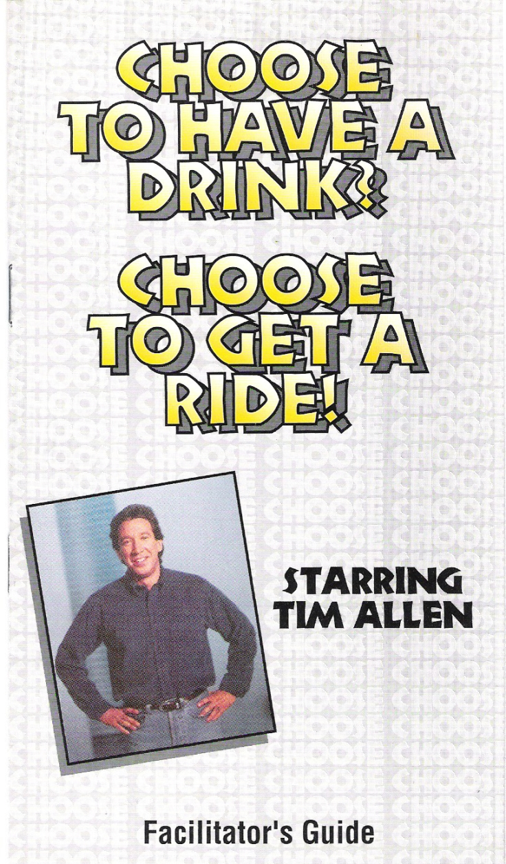 Tim Allen video--Facilitator's Guide